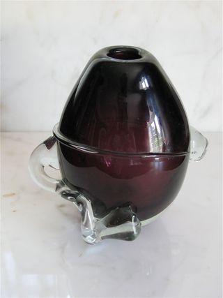 Eggplant vase