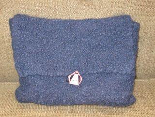 Purple curly purse