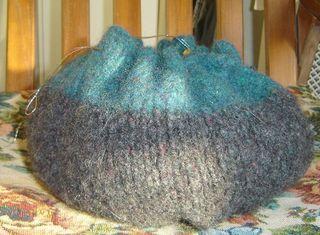 Blue gray onion purse