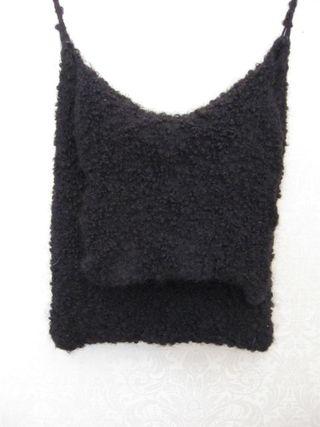 Black curly purse