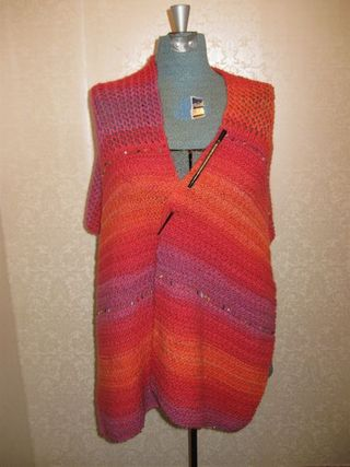 Orange shawl 1