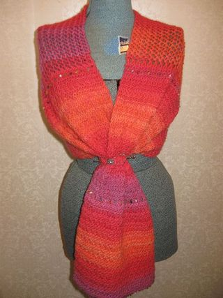 Orange shawl 2