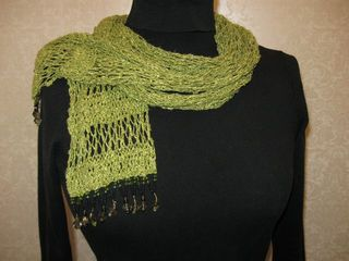 Green scarf neck