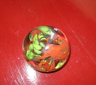 Green orange paperweigh xmas 09
