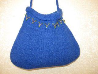 Cobalt beaded purse