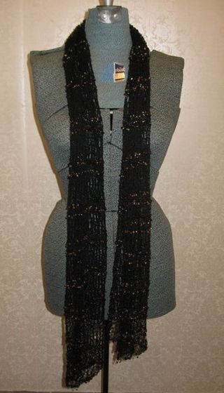 Black beaded shawl 1
