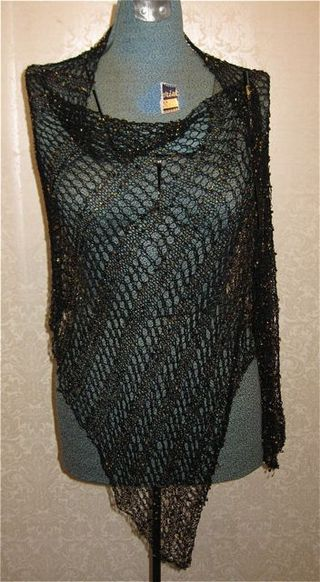 Black beaded shawl 2