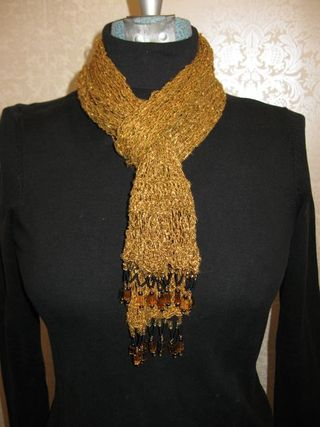 Gold scarf neck
