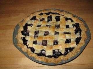 Blueberry pie finished