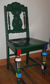 painted chair overbooked and underpaid anne morse hambrock