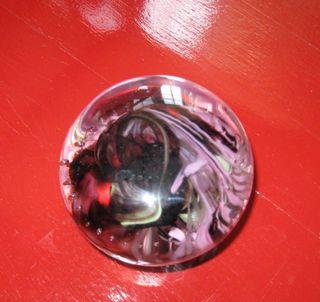 Purple paperweight xmas 09