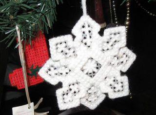 Needlepoint snowflake