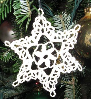 Starched snowflake