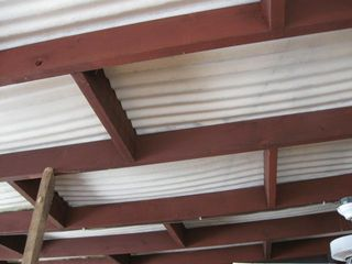 Sagging porch roof