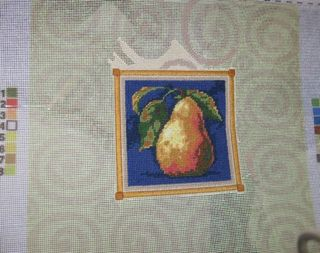 Needlepoint pear