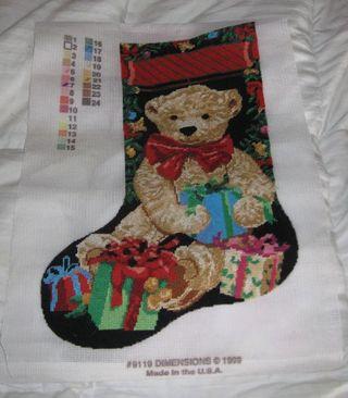 Needlepont stocking