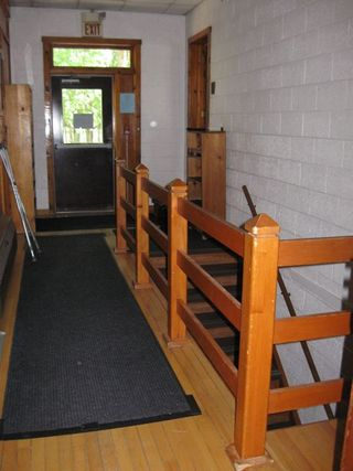 Interlochen dance building stairs to dressing rooms