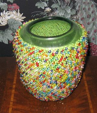 Beaded glass