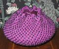 Beaded crochet bowl cover