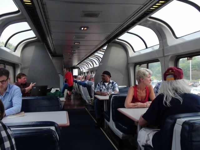 Amtrak observation car