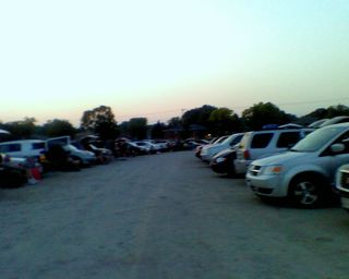 Rows of cars at drive in