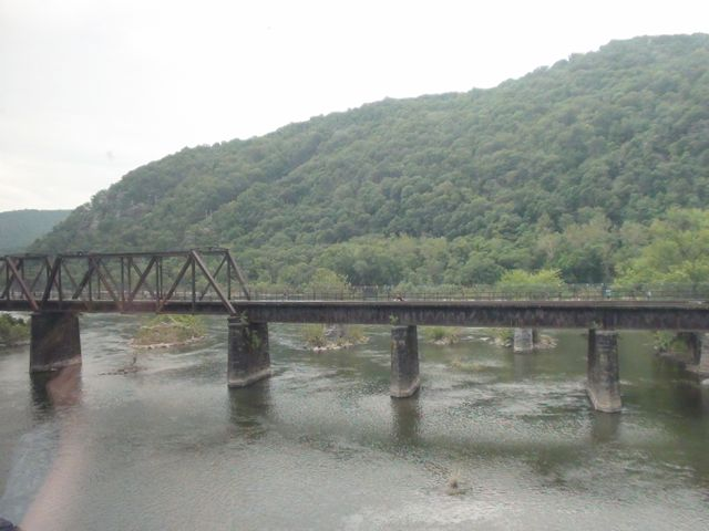 View of Harper's Ferry from Amtrak car