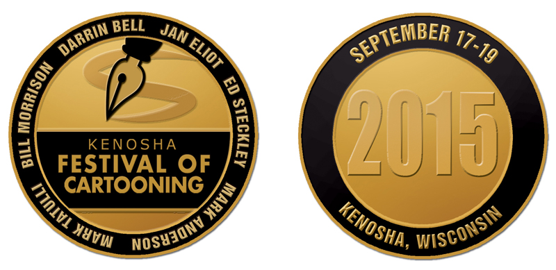 2015 challenge coin front and back