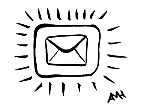 Phisherman email icon drawing