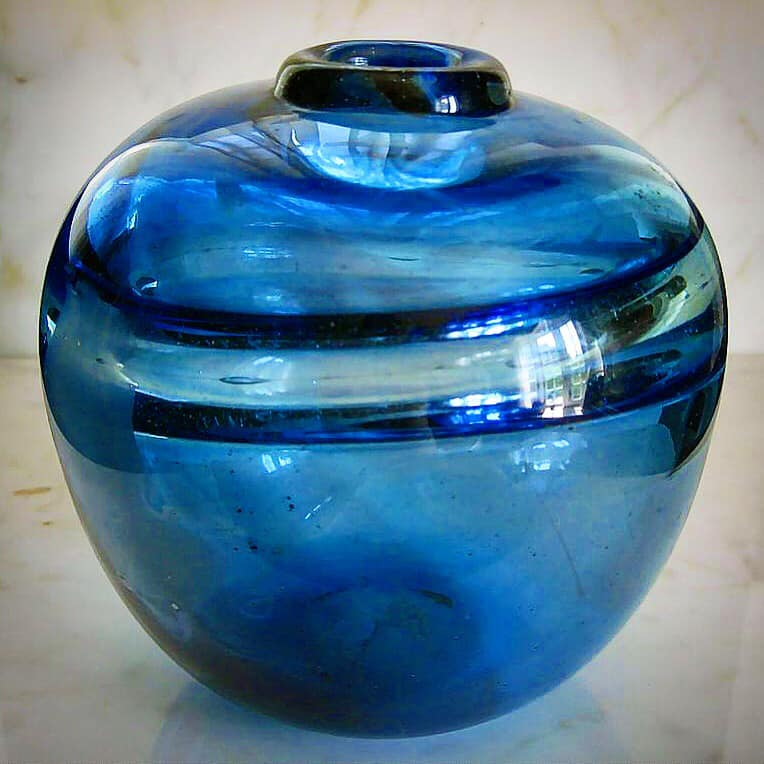 RSDI Ring Blue blown glass