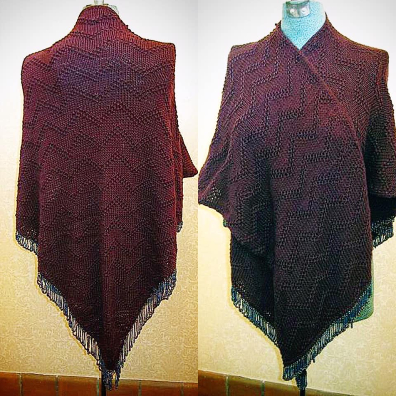 Beaded Shawl designed by Anne Morse Hambrock