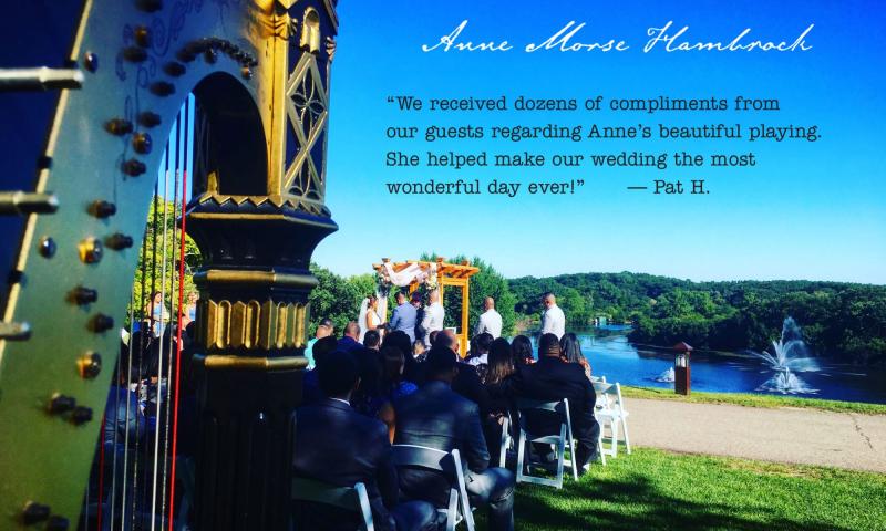 Anne Morse-Hambrock Harp Wedding Wisconsin