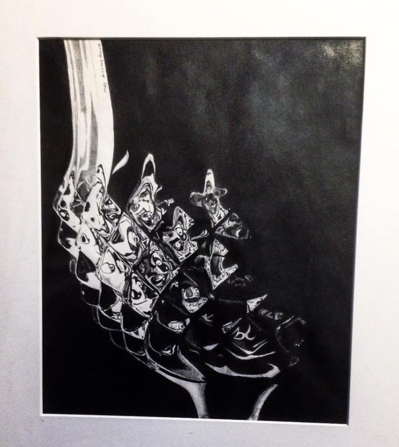 Waterford Goblet pencil rendering