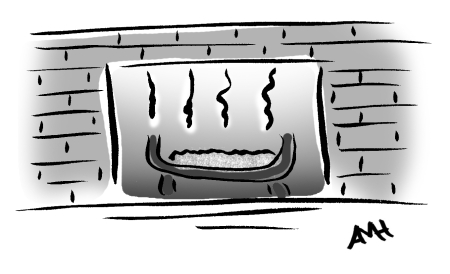 smoky fireplace