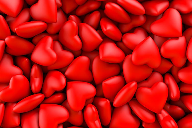 Red hot hearts