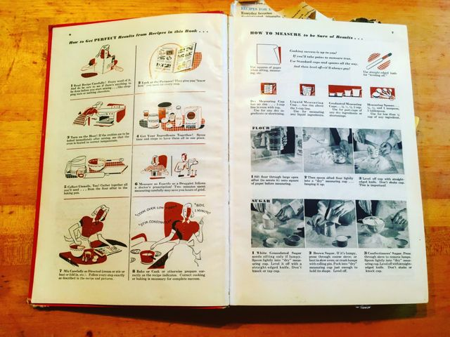 Betty Crocker Picture Cookbook pgs 6-7 results-measuring