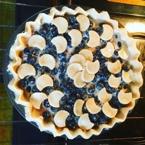 Blueberries and cream pie before baking Back To Betty Overbooked and Underpaid