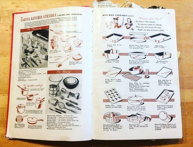 Betty Crocker Picture Cookbook pgs 16-17 Utensils
