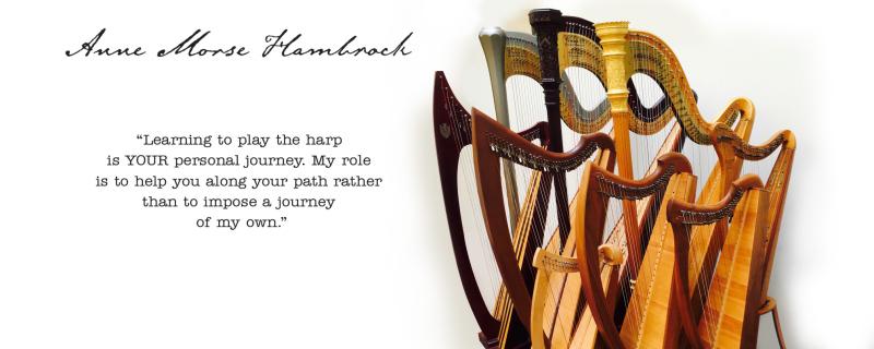 Zoom Skype FaceTime harp lessons Anne Morse-Hambrock