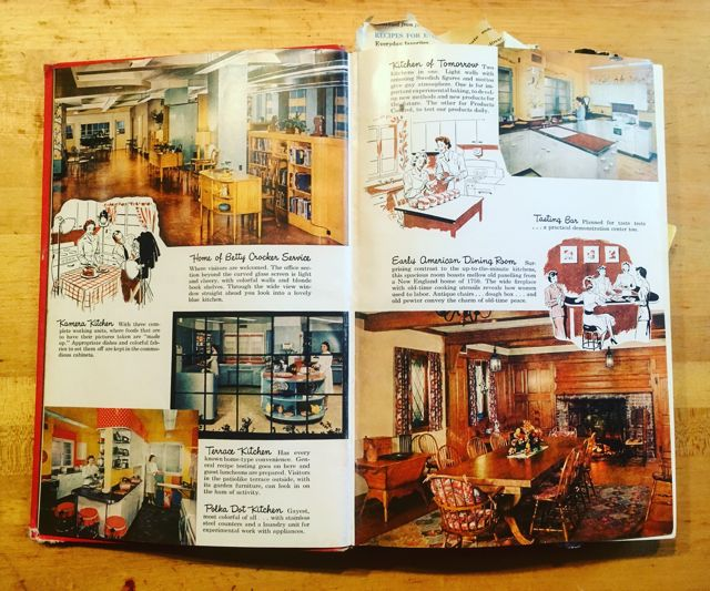 Betty Crocker Picture Cookbook pgs 2-3 kitchens