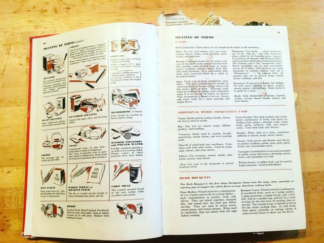 Betty Crocker Picture Cookbook pgs 10-11 meaning of terms