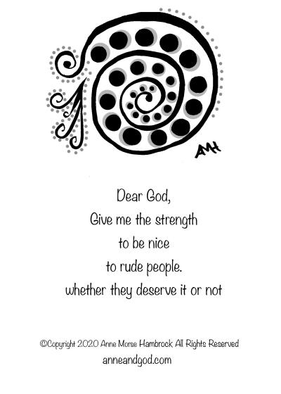 Struggle anne and god