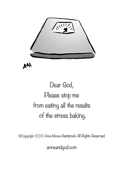 Stress baking scale anne and god