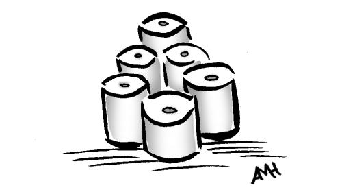 Toilet paper w gray w sig