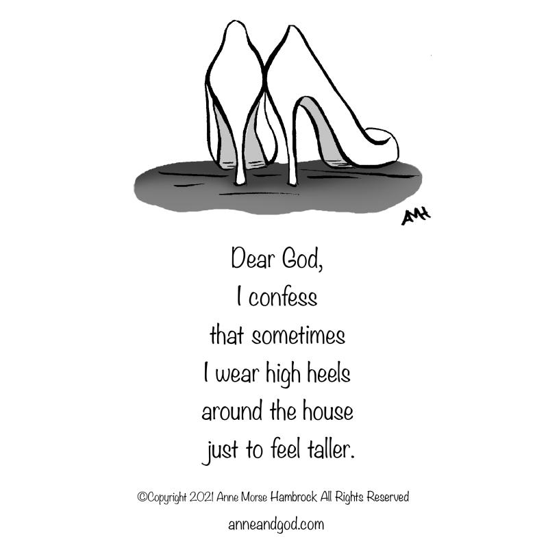 high heels anne and god