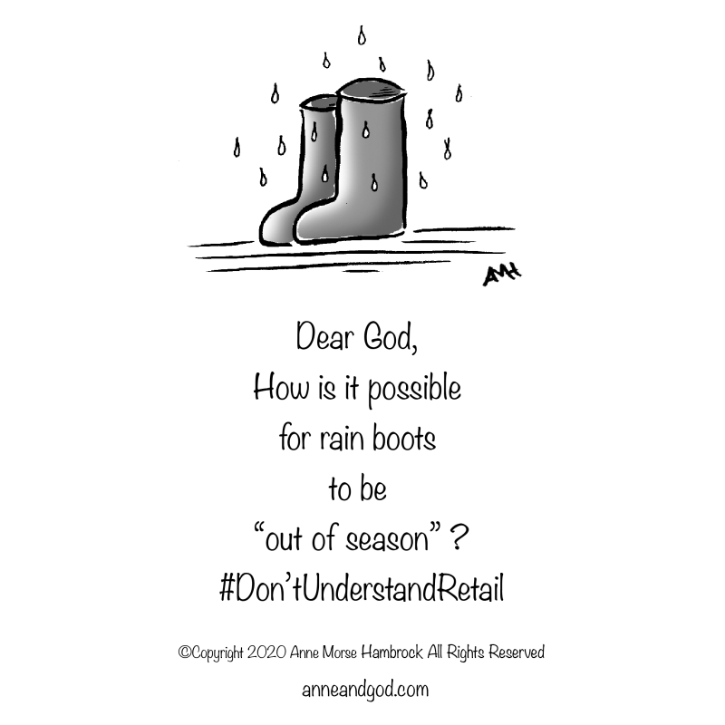 rain boots anne and god