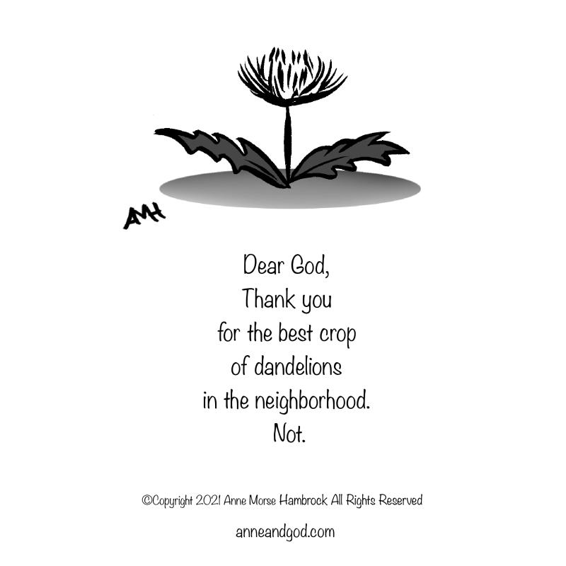 dandelion anne and god