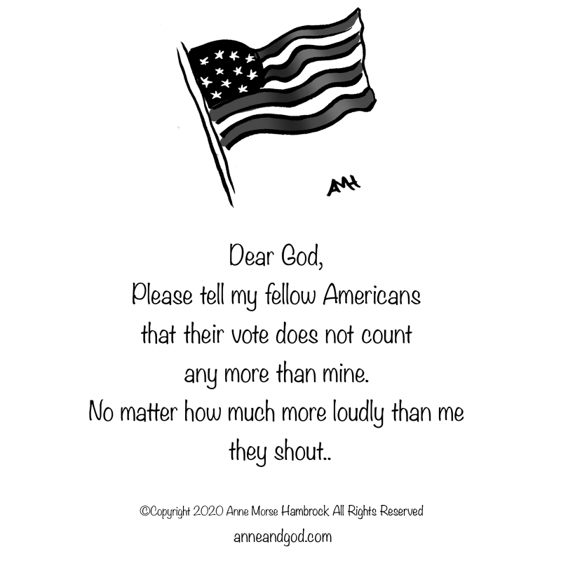 American flag anne and god