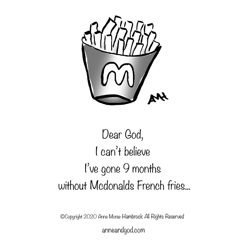 McDonalds fries anne and god