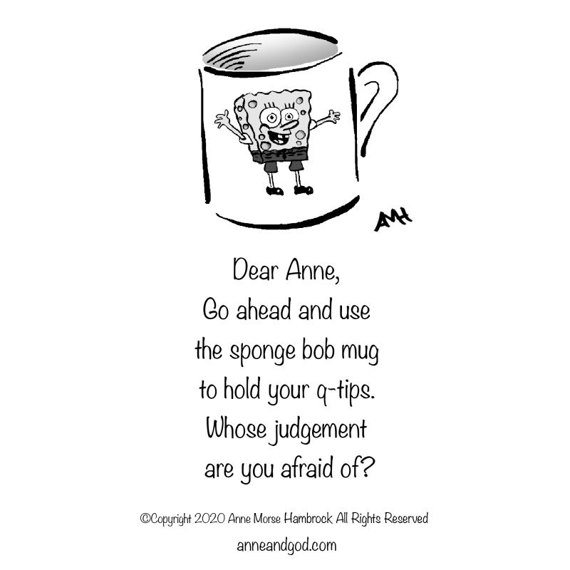 spongebob mug anne and god