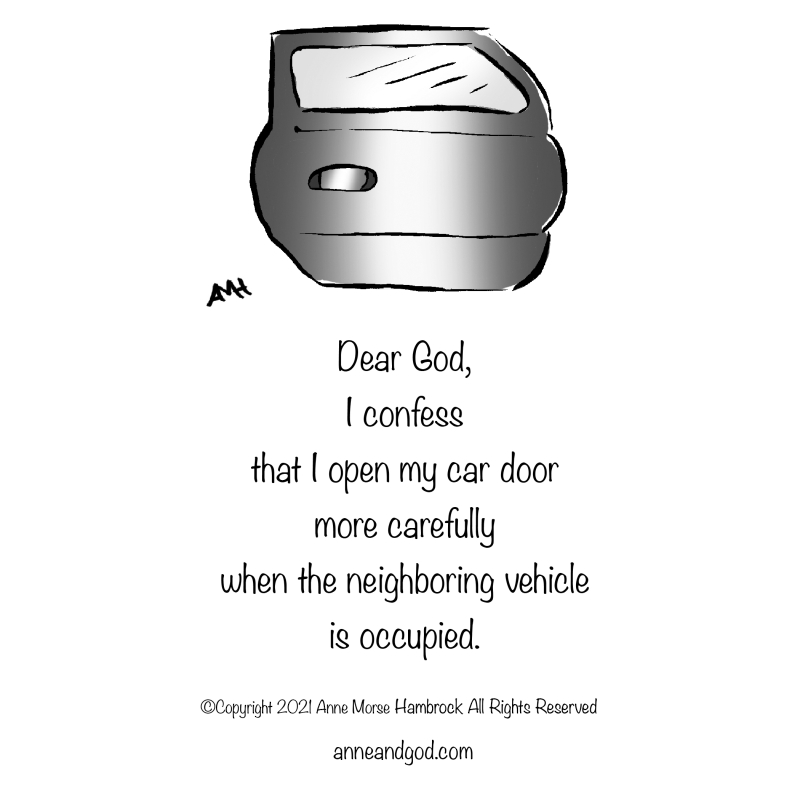 car door anne and god